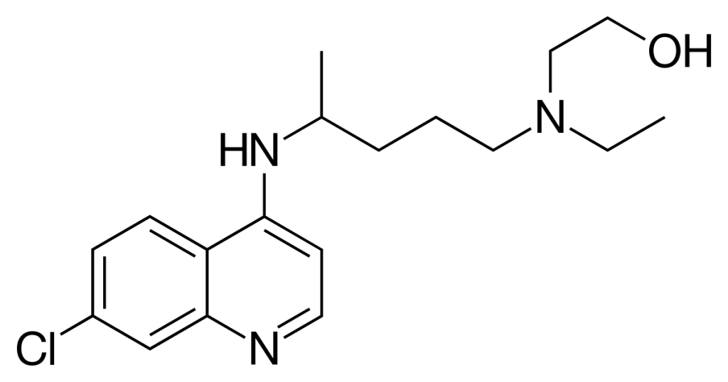 This is the structure of Hydroxychloroquine