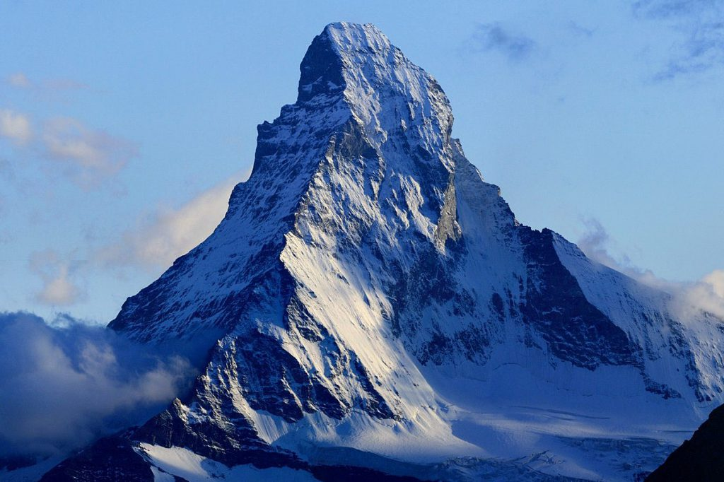Matterhorn Mountain in the border of Italy and Switzerland