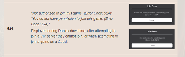 Everything in Roblox Error Code 524